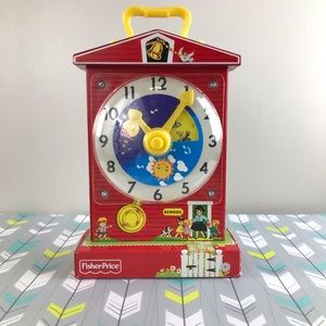 Fisher Price Classic Teaching Clock GUC